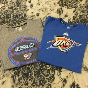 Like NEW! Adidas OKC Thunder Shirt Bundle